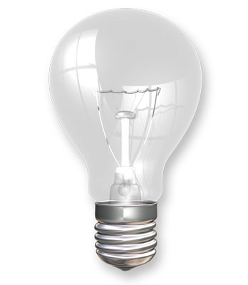 Light Bulbs 60W 4/pk Incandescent