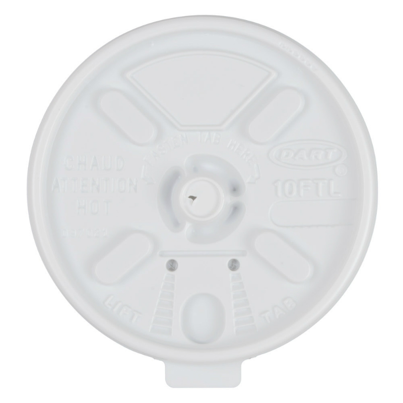 Lids For 12oz Foam Cups Lift n' Lock 1000/cs