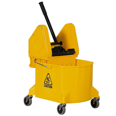 Bucket And Wringer 32qt Down Press Yellow