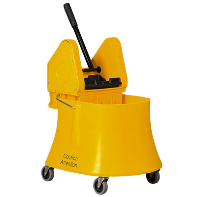 Bucket And Wringer 40qt Down Press Yellow