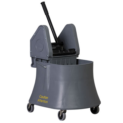 Bucket And Wringer 40qt Down Press Gray