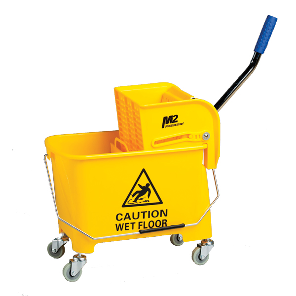 Bucket and Wringer 22qt Side press Yellow