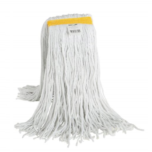 Mop Synthetic Blend Cut End 24oz Fantail, Bagged
