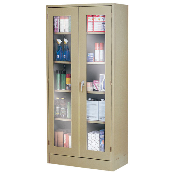 Clear-View Storage Cabinets