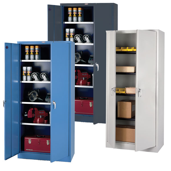 Storage Cabinets 400lb Shelf Capacity