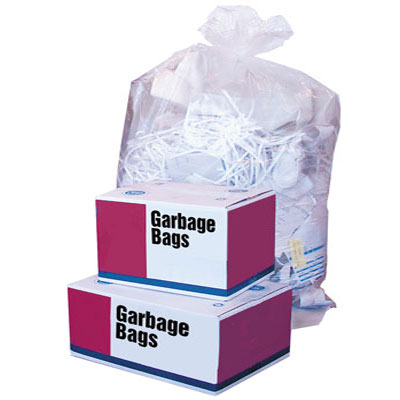 Garbage Bags Standard Clear/White