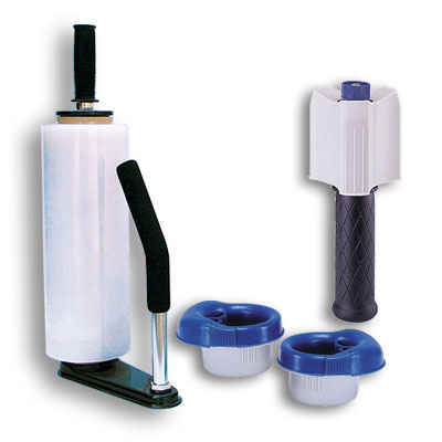 Hand Stretch Wrap Dispensers and Cutters