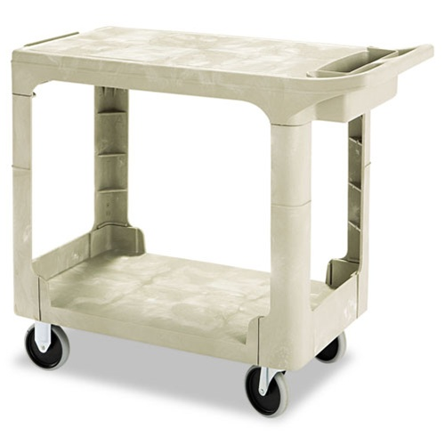 Rubbermaid 16x30 Beige 2 Shelf Utility Cart