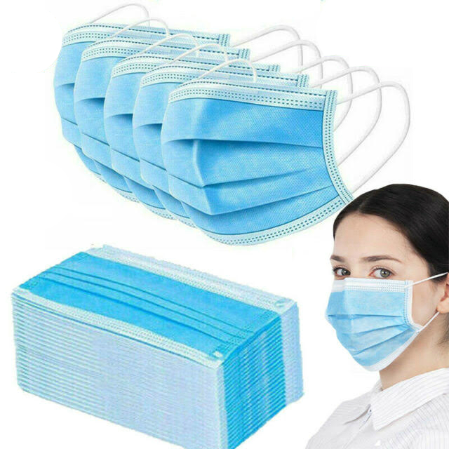 Face Mask with Ear Loops Polypropylene Disposable 50/bx Non-Medical