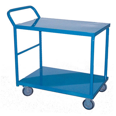 """Order Cart 21"""" x 36"""" x 41"""" 2 Shelf With Removable Shelf"""