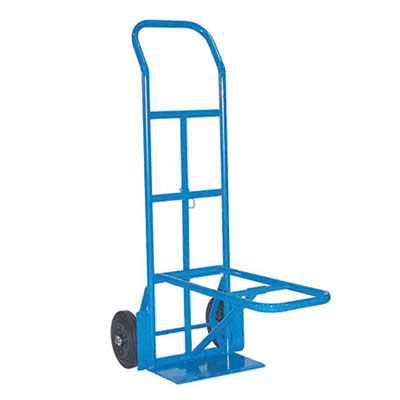 Hand Truck Chair Mover Solid Rubber Wheels Fold down Toe Plate