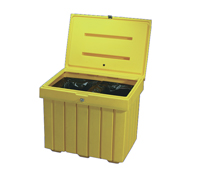 "Salt Bin 32""x24""x28"" 9 Cu Ft. Yellow"