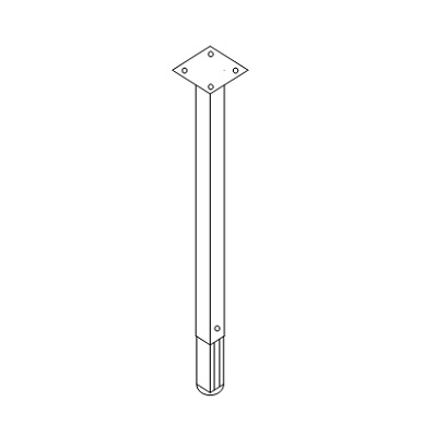"""Support Leg for Ext Top 29-36"""" D-9008"""