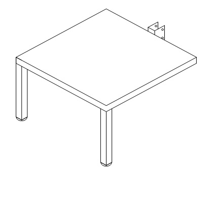 """Metal Side Table 24x24x15"""" D-9009"""