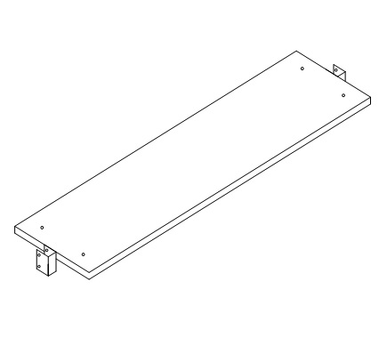 Cartoning Rack Only (no holes) For Between Uprights with Mounting Brackets D9031