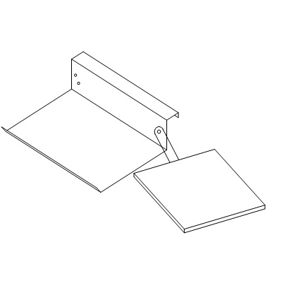 """Keyboard Holder w/ Mouse Pad and Swivel Pin 12x8-1/2"""" D-9086"""