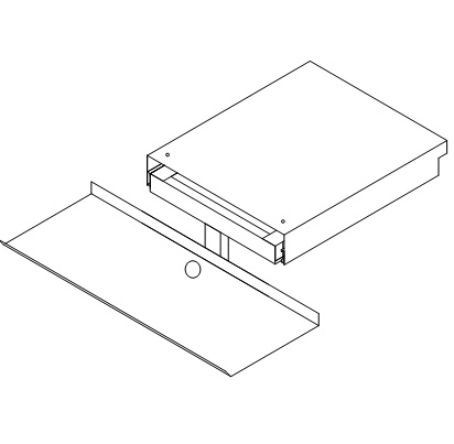 """Slide Out Keyboard Tray 24x8""""  D-9094A"""