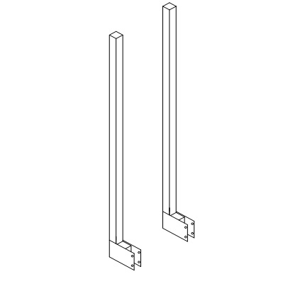 """Straight Uprights -set of 2 1-1/2"""" tube,44"""" high  D-9098"""