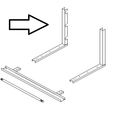 """Uprights For Table Stand Cutters 12""""high  TSU-12"""