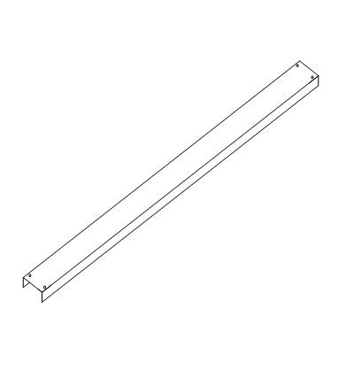 """RC-Cutter Reinforcing Mounting Channel 74"""" long.  MRCH-6074"""