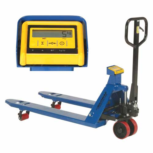 """Pallet Truck with Scale 20-1/2"""" x 48"""" 5500 lb"""