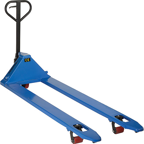 """Pallet Truck Extra Long Forks 27"""" x 78"""" 4400lb Capacity"""