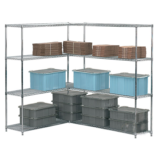 Chrome Adjustable Open Wire Shelving