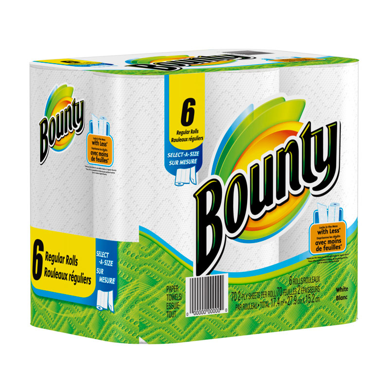Paper Towels Bounty 89133 Select-A-Size 63/rl 24 rls/cs
