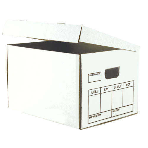 File Box  White Letter/Legal - Swing Lid  15-1/4x12-1/8x9-3/4 10/340