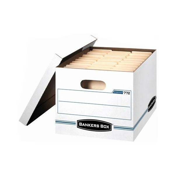 Bankers Box 12x10x15 Econo-Stor File White Letter/Legal