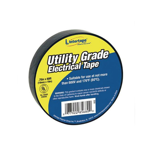 "Tape Electrical 3/4"" x 20m BLK 66 Ft"
