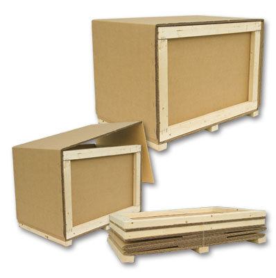 Crate Pack 18x18x12 (O.D) Triple Wall & Heat Treated Lumber, Ships Flat