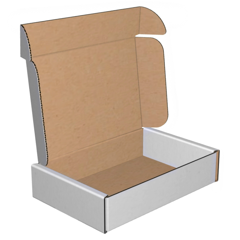 Mailers Corrugated Deluxe Literature 9x6-1/4x2 32B White