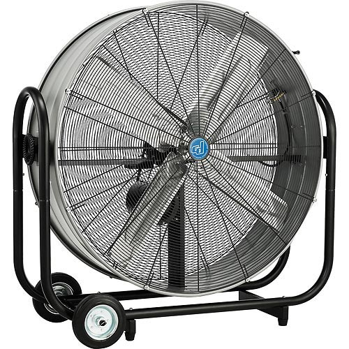42 Inch Portable Fan : Inch portable tilt drum blower fan belt drive whitebird