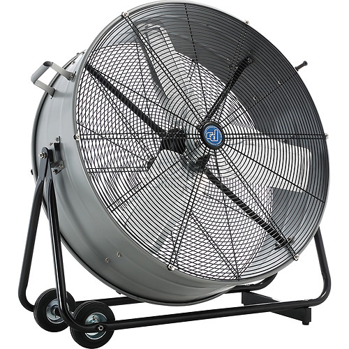 Portable Drum Fan : Fans oscillating pedestal floor desk portable tilt